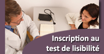 Inscription au test de lisibilité DPMI